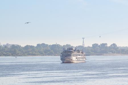The ship is incoming to Nizhny Novgorod