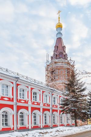 Church of Alexander Nevsky in Sormovo in the winter, Nizhny Novgorod Stock Photo