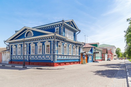 Museum of samovars in Gorodets at summer, Nizhny Novgorod region
