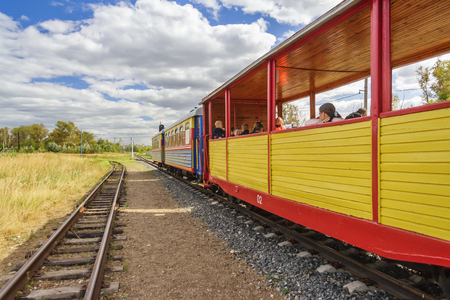 Train of childrens railway in Nizhny Novgorod