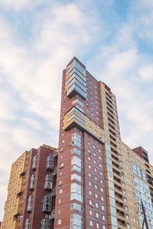 Tower of a residential house against the sky