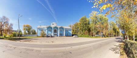 Panoramic view of the building of the old airport in Nizhny Novgorod at autumn, Russia