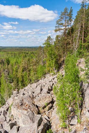 Slope by the Lynx Mountain in Karelia