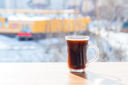 Hot coffee, street, cool