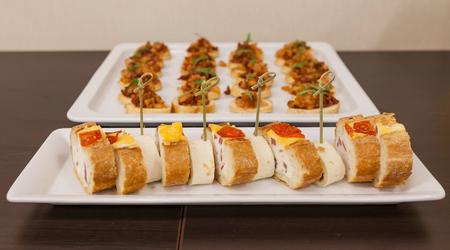 Snacks for a buffet table Фото со стока