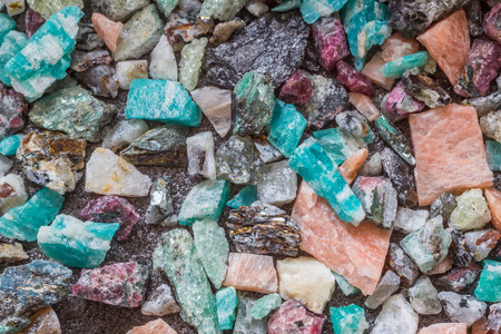 Mix of mineral stones, background