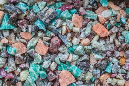 Bright mix of colored stones, background