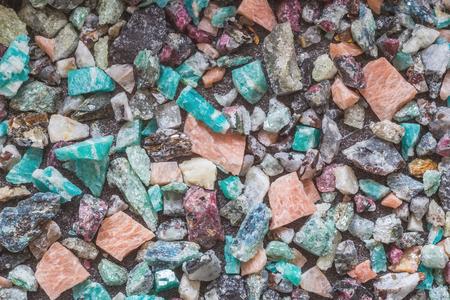 Set of semi-precious minerals, background Фото со стока