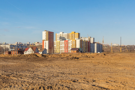 Smooth site for the construction of a new microdistrict in the city