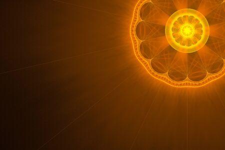 Tangerine sun shines, fractal