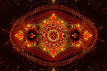 Fractal similar to the Khokhloma tray, background