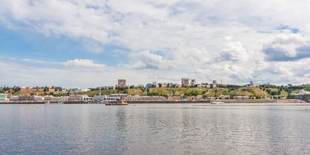 Panorama of the city of Nizhny Novgorod from the river, Russia