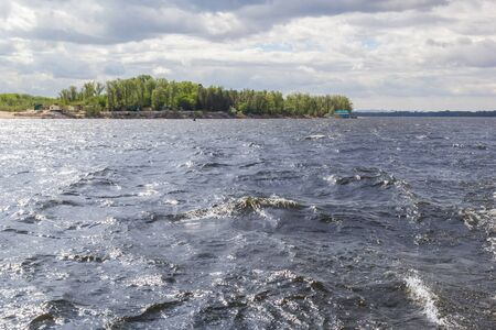 Excitement on the Volga River in the summer Stock Photo