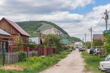 Rural street in summer, village Shiryaevo Samara region in summer, Russia