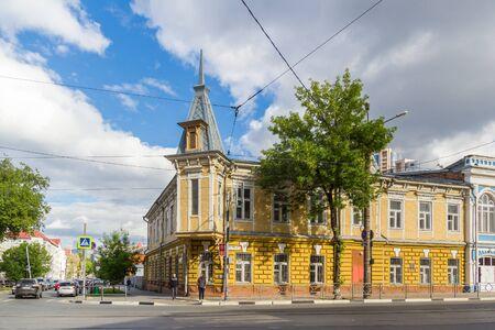 Samara city, Samara region/Russia - may 20 2019: Mansion on Galaktionovskaya and Ulyanovskaya streets in Samara, Russia