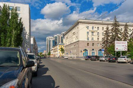 Samara city, Samara region/Russia - may 20 2019: Galaktionovskaya street on a working day Редакционное