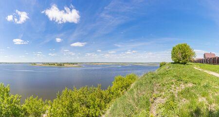 The expanses of the Volga River near Sviyazhsk in Tatarstan, Russia