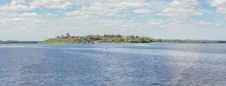 Sviyazhsk island from the Volga river in Tatarstan in summer