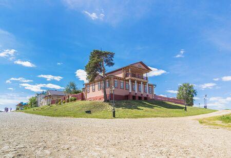 View of the Civil War Museum in Sviyazhsk in summer, Tatarstan