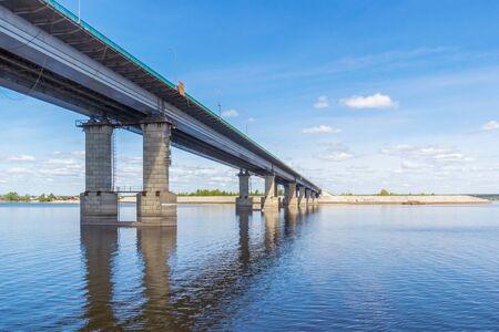 Bridge over the Volga in Tatarstan, Russia