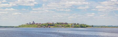View of the island-town of Sviyazhsk from the river in summer, Tatarstan