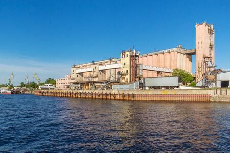 Kazan city, Republic of Tatarstan/Russia - may 25 2019: Industrial enterprise on the river bank