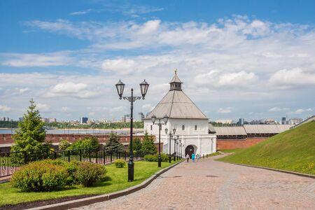 Kazan city, Republic of Tatarstan/Russia - may 23 2019: View of the tower of the Kazan Kremlin Редакционное