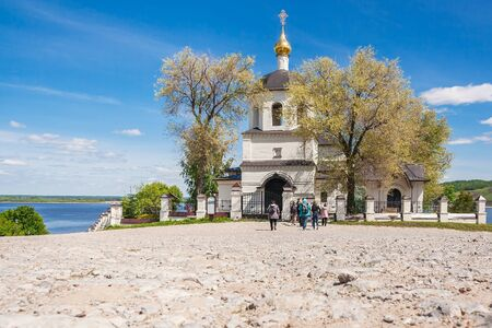 Sviyazhsk village, Republic of Tatarstan/Russia - may 25 2019: Church of Helena and Constantine at summer
