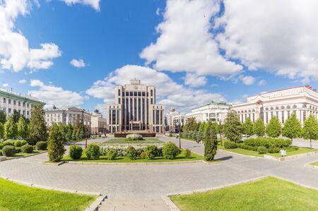 Kazan city, Republic of Tatarstan/Russia - may 24 2019: Freedom Square