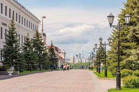 Kazan city, Republic of Tatarstan/Russia - may 23 2019: Sheinkman driveway in Kremlin