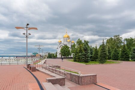 Samara city, Samara region/Russia - may 20 2019: View of the church in honor of St. George the Victorious