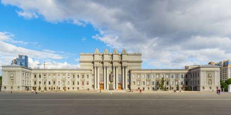 Facade of Samara Opera and Ballet Theater, Russia