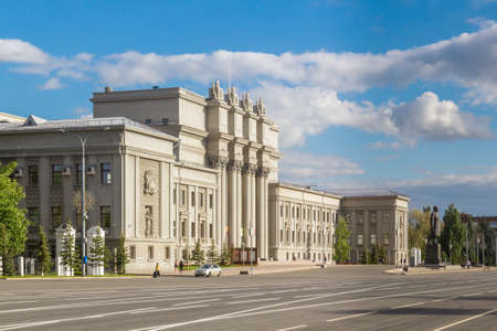 Side view of the Opera and Ballet Theatre in Samara, Russia