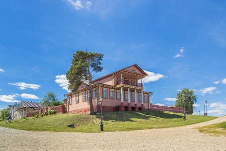 Civil War Museum in Sviyazhsk in summer, Tatarstan