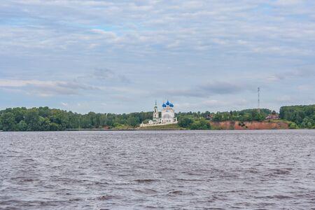 Church in the village of Katunki in the Nizhny Novgorod region on the banks of the Volga