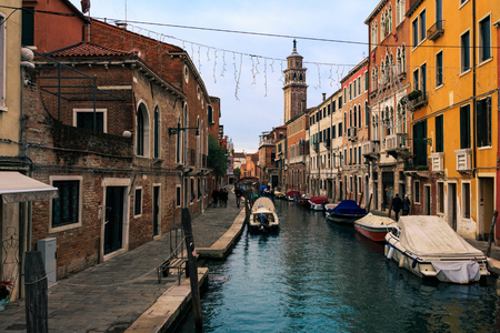 Canal cityscape in Venice Italy