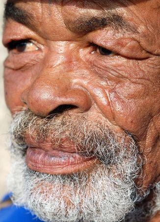 brown african man