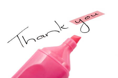 Thank you with focus on you Stock Photo - 9128058