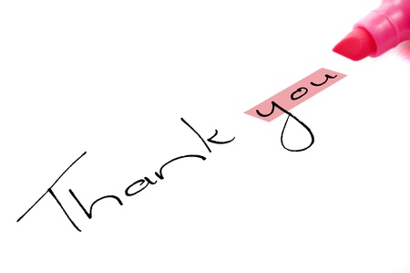 Thank you with focus on you Stock Photo - 9128053