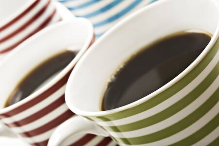 close ups: Close ups of mugs of black coffee