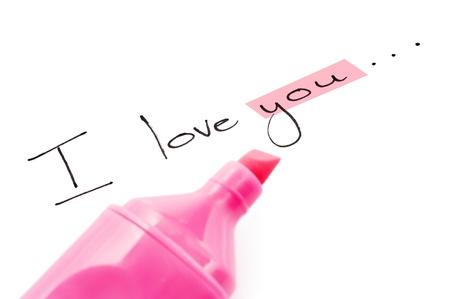 recibo: Las palabras te amo centr�ndose en usted