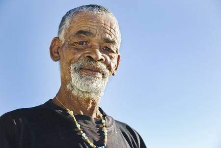 Old African black man with characterful face Stock Photo - 9425798