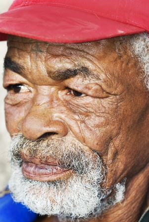 old black man: Old African black man with characterful face Stock Photo