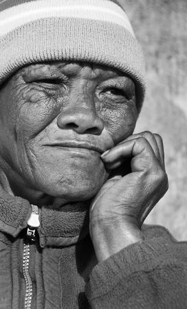 Senior African woman photo