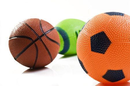 Collection of sport ball with soccer rugby an basket ball photo