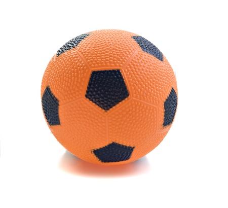 Orange play ball isolated on white photo