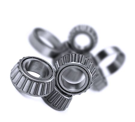 ball bearing: Ball bearings on a pure white background with space for text
