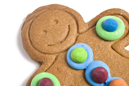Close up of a gingerbread man photo