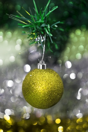 Christmas decorations with colorful background Stock Photo - 14510592