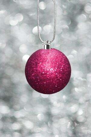 Christmas ball with sparkling background photo